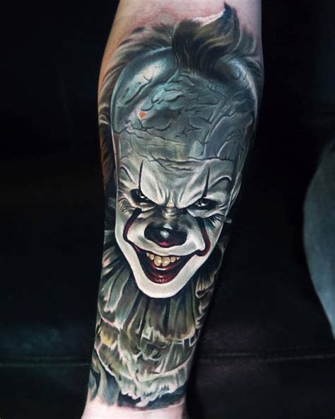 pennywise tattoo pennywise it best design ideas