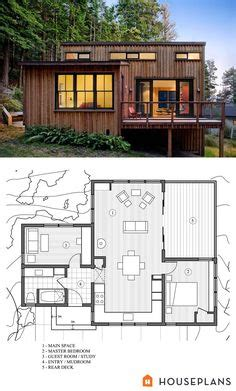 cheap guest house floor plans g28 in modern home design style with a 1 091 sq ft tiny house with two porches a stunning