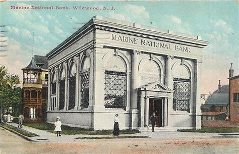 banks in nj wildwood new jersey nj marine national bank 1909 postcard