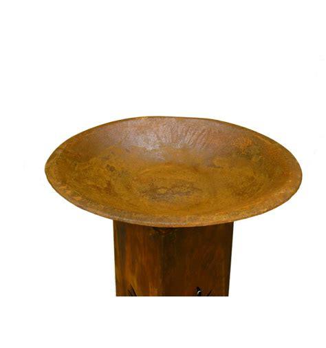 kerzenhalter rost runde rost schale 216 50 cm mit flachem boden metallmichl