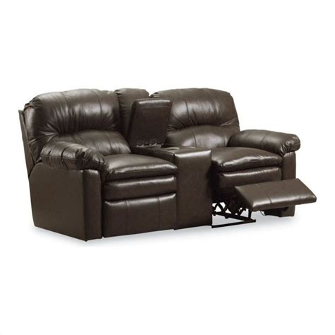lane dual reclining sofa lane furniture touchdown double reclining console sofa in