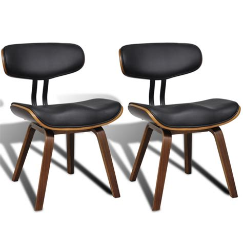 chaise cuir noir salle manger helloshop26 chaises salle 224 manger x 2 2 chaises de