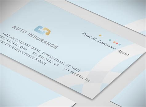 Insurance Business Card Templates by Car Auto Insurance Agency Services Business Card