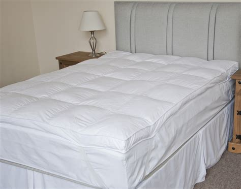 king size feather bed king size luxury cotton extra thick duck feather mattress