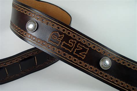 custom leather guitar straps personalized guitar straps