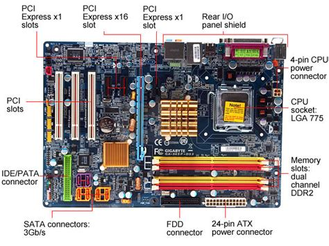 atx motherboard diagram what is a motherboard science