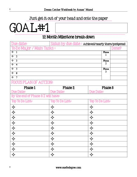 free printable daily goal sheets project planner or goal setting worksheet planner tour