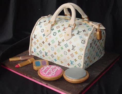 louis vuitton handbag birthday cake  lipstick