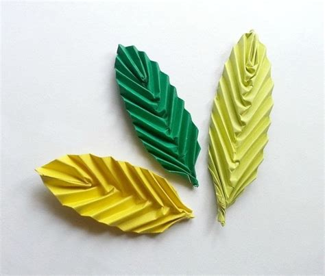 How To Make A Leaf Out Of Paper - origami leaf 183 how to fold origami 183 papercraft on cut out