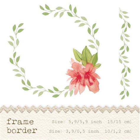 Bordir Flower 169992 Set 3 In 1 Quality Semiori 1 digital clipart watercolor flowers floral frame