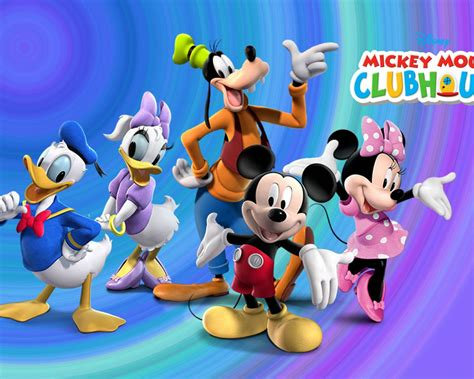 mickey  friends clubhouse disney cartoon  children desktop hd wallpaper  mobile phones