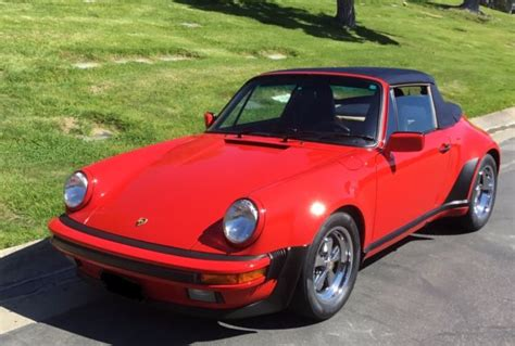 porsche 911 whale turbo 1987 porsche cabriolet turbo look w o whale for sale