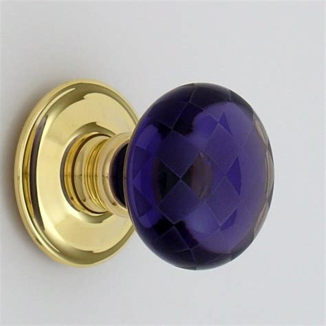 Purple Glass Door Knobs Purple Chequerboard Glass Door Knob Ironmongery