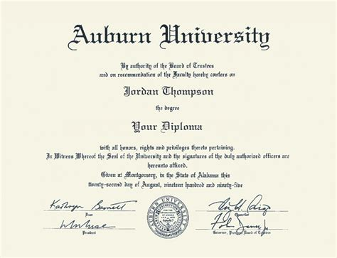 Aauburn Mba Dual Degree Program auburn tassel edition diploma frame in newport