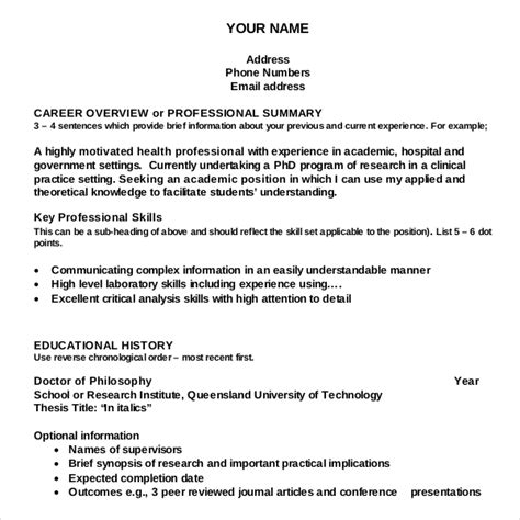 Resume Writing Format by 12 Resume Writing Template Free Sle Exle Format