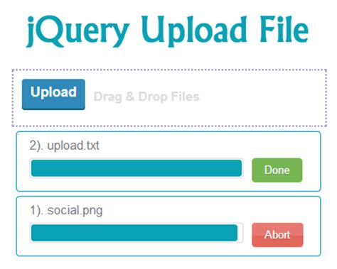 file upload jquery plugins