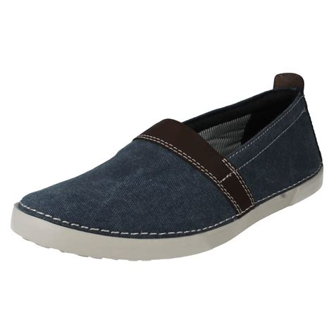 s clarks light weight slip on casual summer shoes the