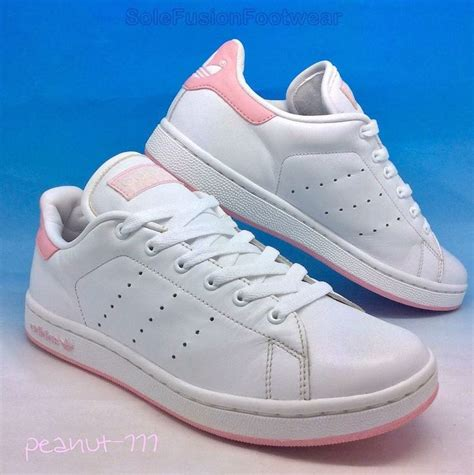 Original Adidas Stan Smith Pink adidas originals stan smith trainers white pink sz 4 womens 36 2 3 22 5cm solemates