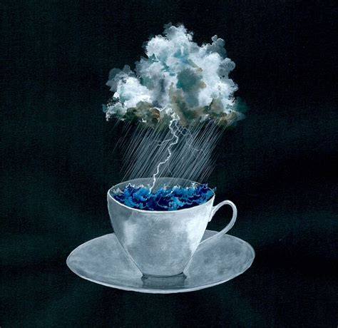 storm in a teacup storm in a teacup original watercolour artwork the block shop
