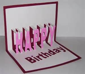 happy birthday pop up template susan bluerobot happy birthday word pop up card plus