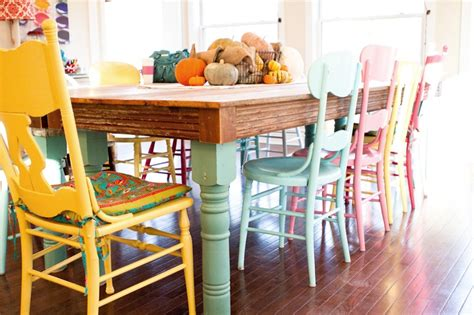 colorful dining table creative and functional kitchen table designs for your condo