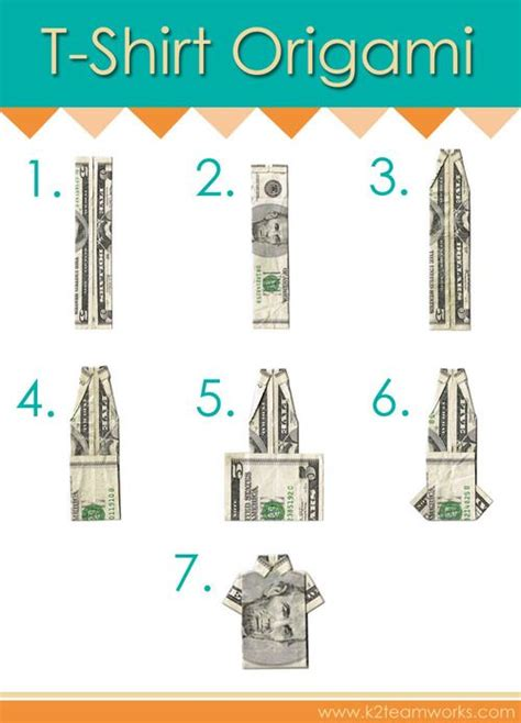T Shirt Dollar Origami - origami diy origami and money origami on