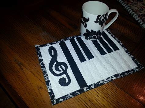 piano key rug design musical piano mug rug coasters mug rugs and pot