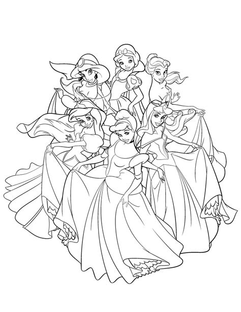 disney princess coloring book disney princesses coloring page coloring home
