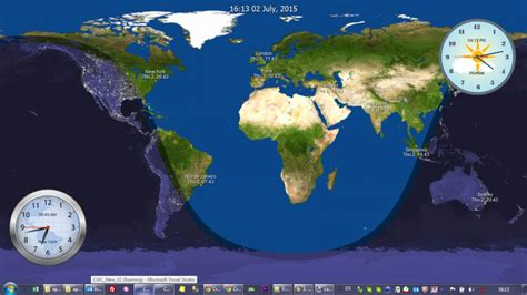 earth clock wallpaper crave world clock current time for major cities on your