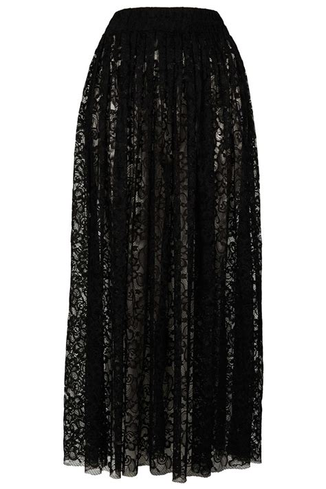 topshop lace maxi skirt by goldie in black lyst
