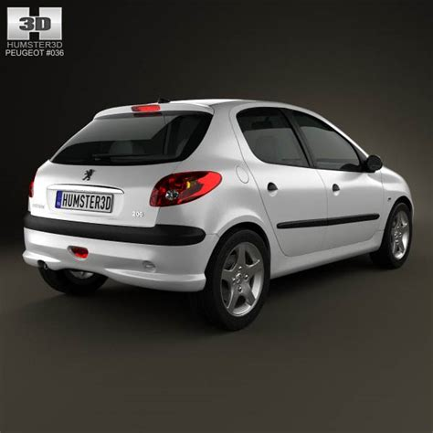 peugeot hatchback models peugeot 206 hatchback 5 door 2005 3d model humster3d