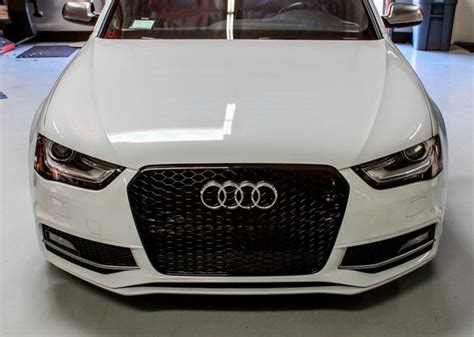 Audi A4 B8 Wabengrill by Grill Rs4 Look Schwarz Audi A4 S4 B8 Facelift 2012 2016
