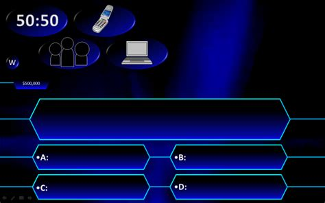 who wants to be a millionaire blank template powerpoint