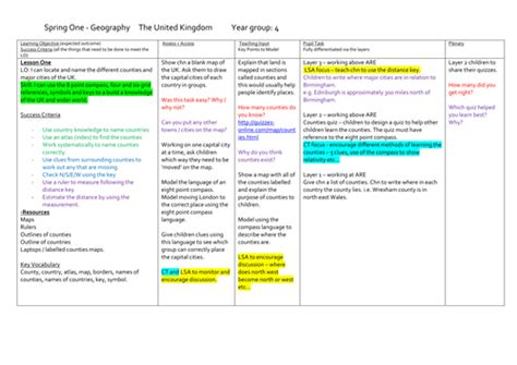 Ks2 Geography Scheme Of Work | ks2 geography scheme of work full lesson plans and