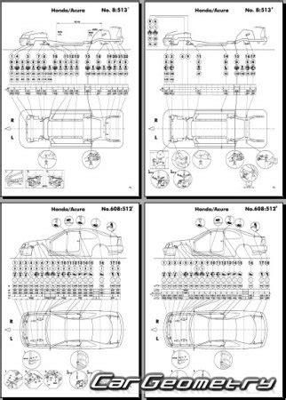 1994 honda accord coupe wagon service manual supplement original геометрические размеры honda accord 1994 1997 sedan coupe wagon body repair manual