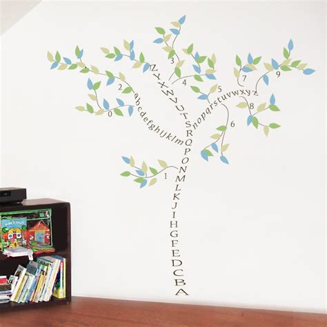 alphabet and number wall stickers number wall decals popular items for wall decal on