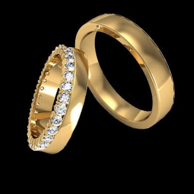fancy matched wedding bands