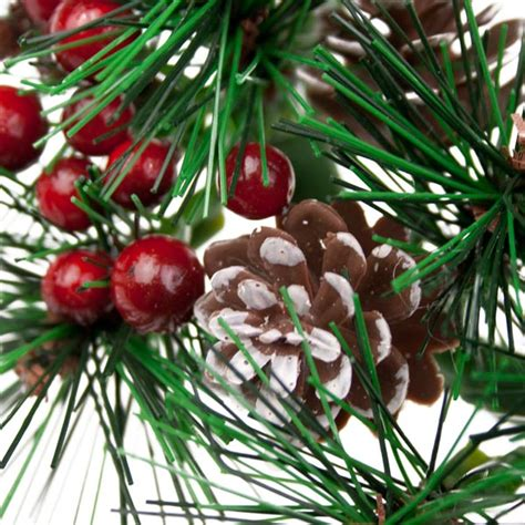 candle ring snow red berries berry pinecone foliage candle ring 8cm time uk