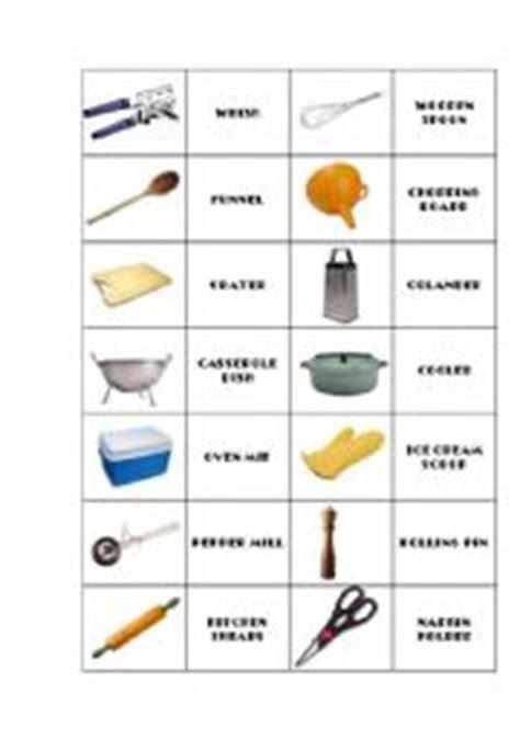 Kitchen Using Items Name Teaching Worksheets Kitchen Utensils Equipment