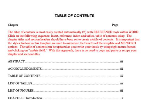 How To Do A Table Of Contents by 10 Best Table Of Contents Templates For Microsoft Word
