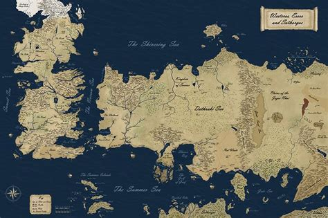essos map westeros and essos of thrones maps that never were literatura of