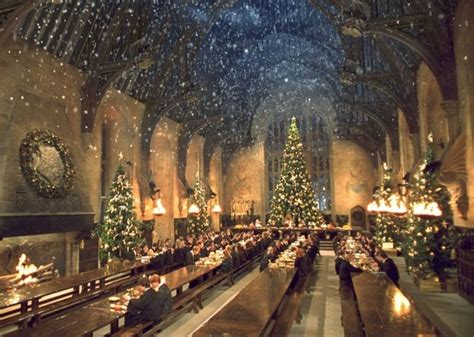 hogwarts great hall harry potter fan had christmas dinner at hogwarts great