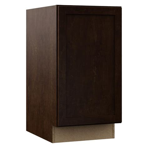 Kitchen Cabinet Trash Can Pull Out Hton Bay Shaker Assembled 18x34 5x24 In Pull Out Trash Can Base Kitchen Cabinet In Java