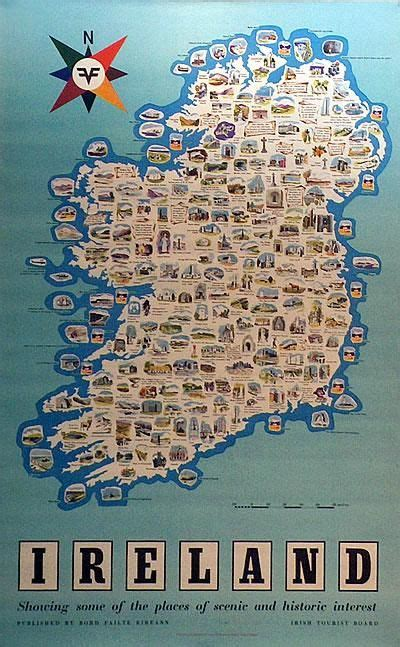 places of interest in map ireland map places of interest kaart europa maps