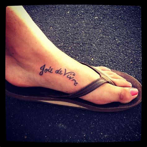 tattoo lifetime care tattoo joie de vivre meaning quot the joy of living