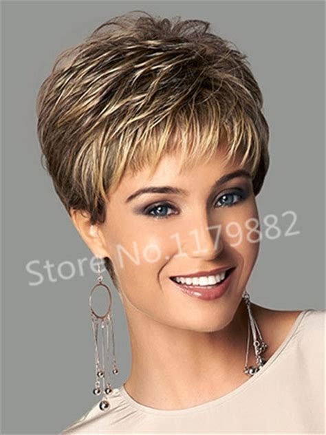 Manaul Haircut Women | fashion stylish synthetic straight ombre blonde short hair