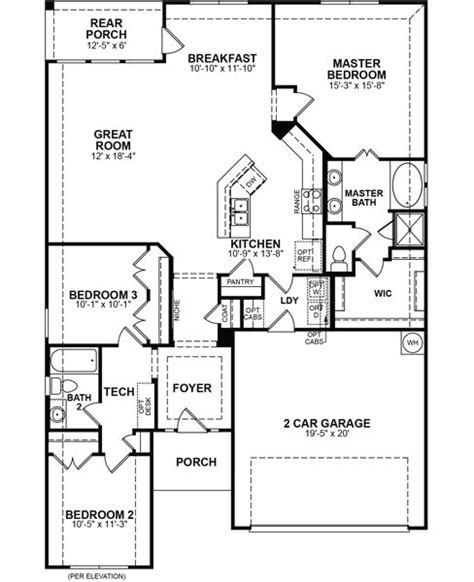 beazer floor plans baxter home plan in creek south elm tx