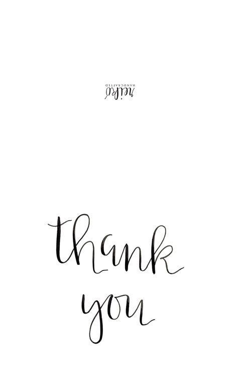 thank you card template free printable foldable thank you cards larissanaestrada