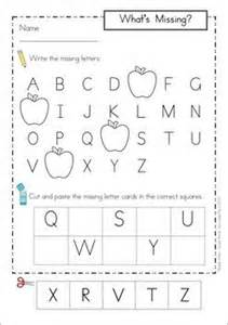 missing alphabet letters cut and paste school theme