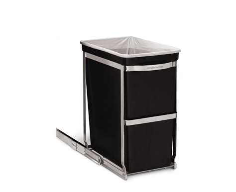 cabinet trash can replacement simplehuman 30 litre under counter pull out bin